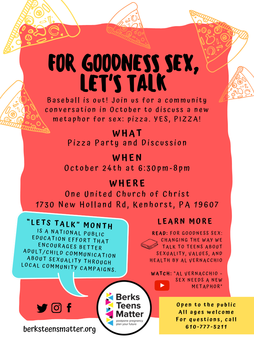 """For Goodness Sex, Let's Talk"" at United Church of Christ"
