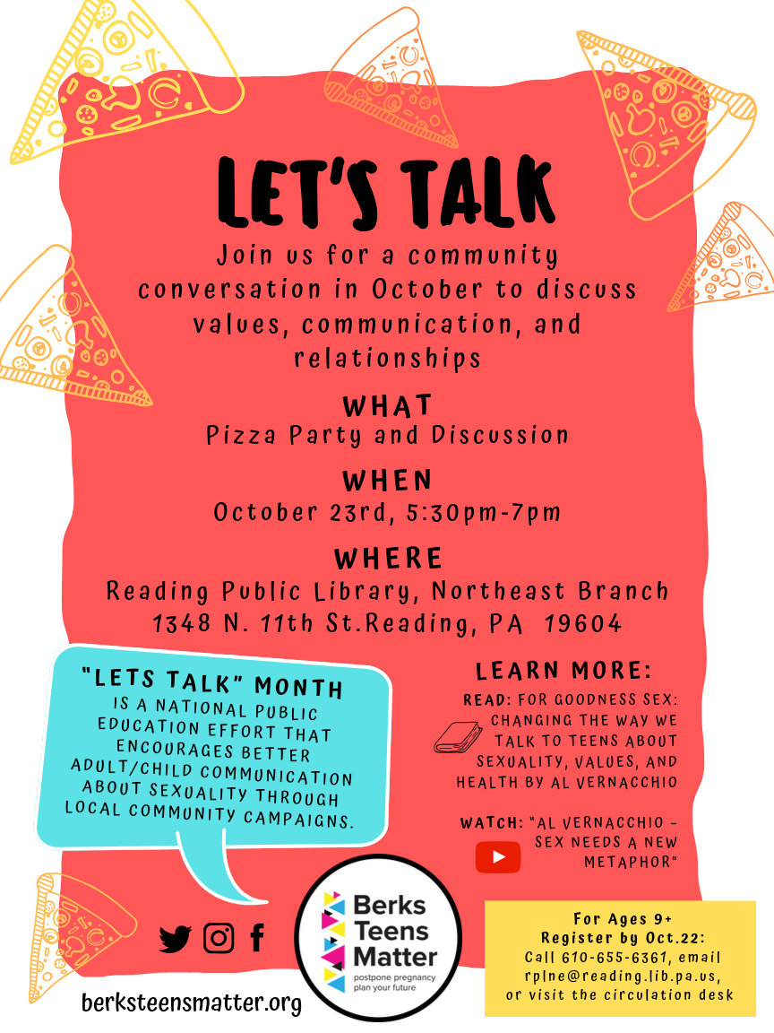 """For Goodness Sex, Let's Talk"" at Reading Library NE"