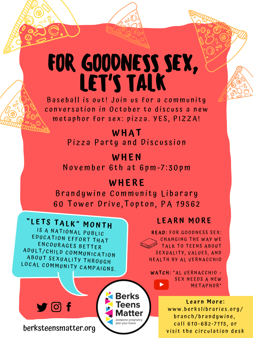 """For Goodness Sex, Let's Talk"" at Brandywine Community Library"